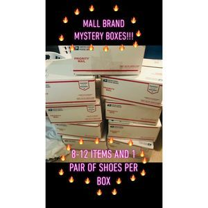 Mall Brand Mystery Box 10 items + pair of boots